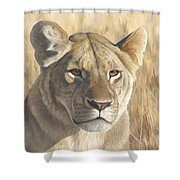 Mara Lioness Shower Curtain