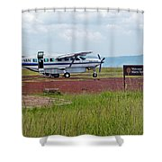 Mara Serena Air Strip Shower Curtain