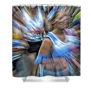 Marathon Abstract 2 Shower Curtain
