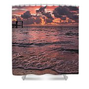 Marathon Key Sunrise Panoramic Shower Curtain by Adam Romanowicz