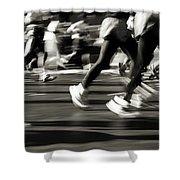 Marathon, Nyc, New York City, New York Shower Curtain