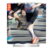 Marathon Runners Shower Curtain