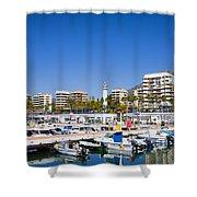 Marbella Marina In Spain Shower Curtain