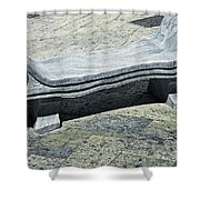 Abstract Marble Bench Shower Curtain