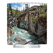 Marble Canyon In Kootenay Np-bc  Shower Curtain