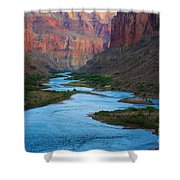 Marble Canyon Rafters Shower Curtain by Inge Johnsson