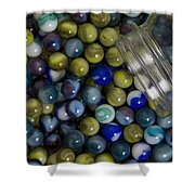 Marble Collection Jar 1 A Shower Curtain