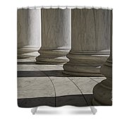 Marble Columns Of Thomas Jefferson Memorial Shower Curtain