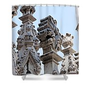Marble Facade With Tower Duomo Di Milano Italia Shower Curtain