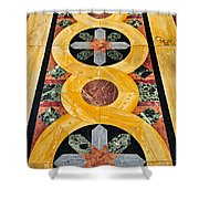 Marble Floor In Orthodox Church Shower Curtain