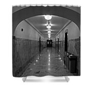 Marble Hallway Shower Curtain