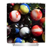 Marble King Marbles 1 Shower Curtain