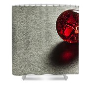 Marble Red Crackle 1 Shower Curtain