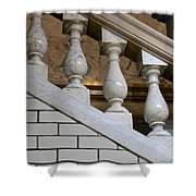 Marble Staircase Shower Curtain