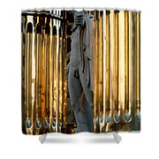 Marble Statue Shower Curtain