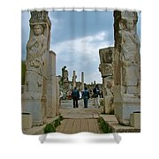 Marble Way From Theater To Central Ephesus-turkey Shower Curtain