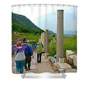 Marble Way In Ephesus-turkey Shower Curtain