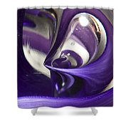 Marble Wilkerson Glass 4 Shower Curtain