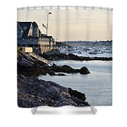 Marblehead Harbor Chandler Hovey Park Shower Curtain