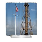 Marblehead Light Tower Shower Curtain