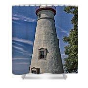 Marblehead Lighthouse Lake Erie Shower Curtain
