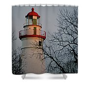 Marblehead Lighthouse On Lake Erie  Shower Curtain