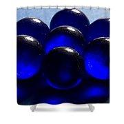 Marbles Blue 1 C Shower Curtain