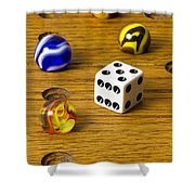 Marbles Board Game 1 C Shower Curtain