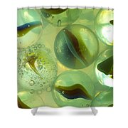Marbles Cat Eyes Soda 1 A Shower Curtain