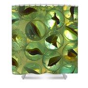 Marbles Cat Eyes Soda 1 B Shower Curtain