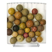 Marbles Clay 1 Shower Curtain