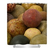 Marbles Clay 2 Shower Curtain