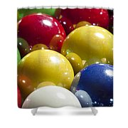 Marbles Mega Pearl 1 Shower Curtain