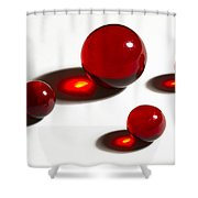 Marbles Red 2 Shower Curtain