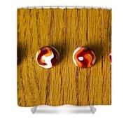 Marbles Red Orange Swirl 1 Shower Curtain
