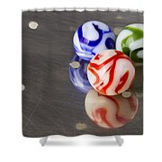 Marbles Strainer 2 Shower Curtain