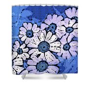 March Of The Daisies Shower Curtain