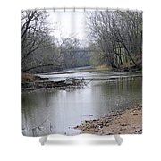 March River Morning Shower Curtain