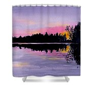 March Sunset In Maine Shower Curtain