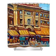 Marche Bonsecours Old Montreal Shower Curtain