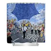 Marching Band, Brecon Jazz Festival, 1994 Oil On Board Shower Curtain