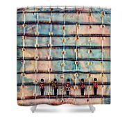 Marching Band Encaustic Shower Curtain