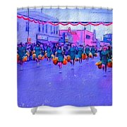 Marching In The Parade Shower Curtain