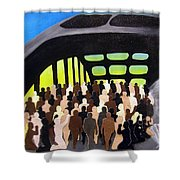 Marching Into History Shower Curtain