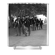 Marching Off To Battle Shower Curtain