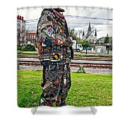 Marching To His Own Drummer 2 Shower Curtain