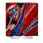 Marco Andretti Focused Shower Curtain