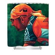 Marco Pantani 2 Shower Curtain by Paul Meijering