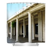 Marcy Casino At Delaware Park Buffalo Ny Oil Painting Effect Shower Curtain