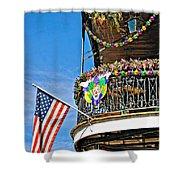 Mardi Gras Balcony Shower Curtain